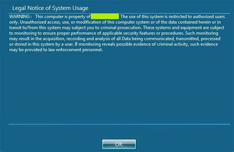 Windows 7 Security Templates by Deploying Notice Logon Banner In Domain Computers