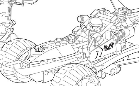 lego ninjago rebooted coloring pages coloriage voiture ninjago 224 imprimer
