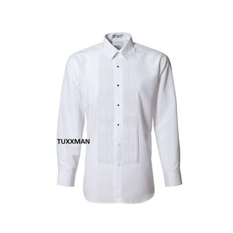 Tuxedo Shirt used white laydown collar tuxedo pleated tux shirt pleats
