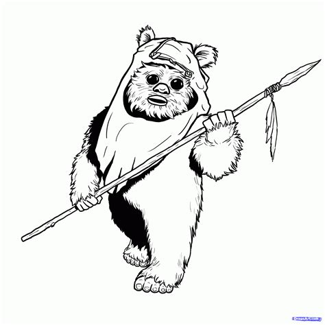 Ewok Coloring Pages ewok coloring pages coloring home