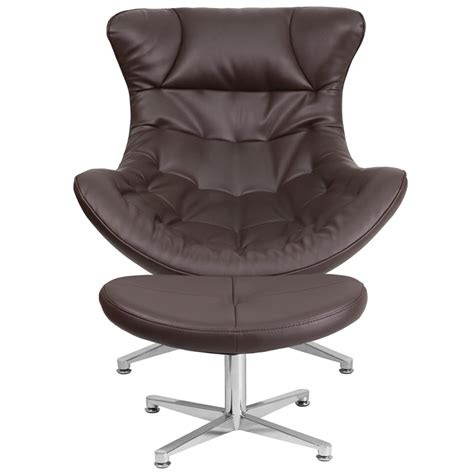 brown leather chair with ottoman brown leather cocoon chair with ottoman zb 42 cocoon gg