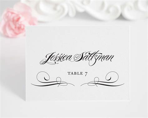 A Place Script Ravishing Script Place Cards Style A Place Cards By Shine