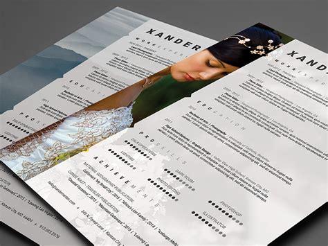 Cursive Q Resume by Photographer Resume Template Photoshop Psd Cursive Q