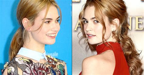 cinderella hair celebrities lily james goes strawberry blonde in middle of cinderella