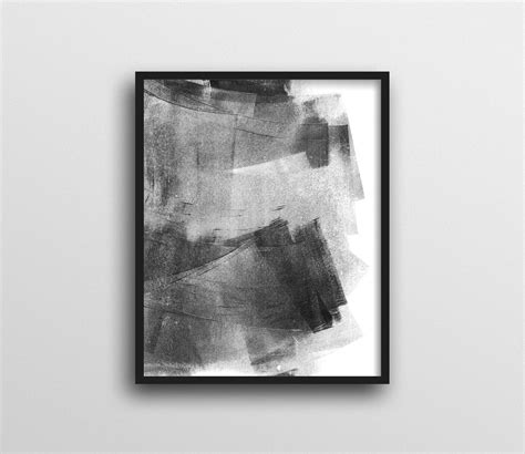 Black White Abstract Wall