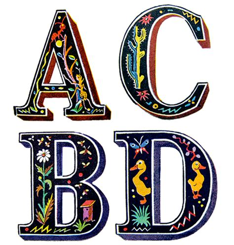 cool graphic letters clipart best