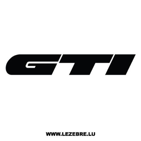 Auto Sticker Gti by Sticker Volkswagen Golf Gti