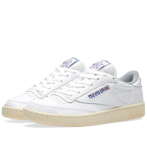 lyst reebok club c 85 vintage in white for