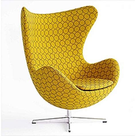 Yellow Patterned Armchair Yellow Patterned Egg Chair Furniture Design