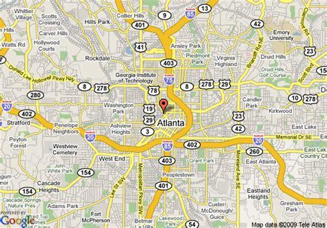 map of usa showing atlanta map of omni hotel at cnn center atlanta