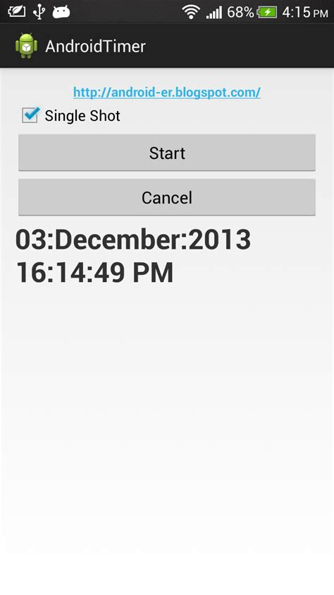 tutorial java android android er exle of using timer and timertask on android