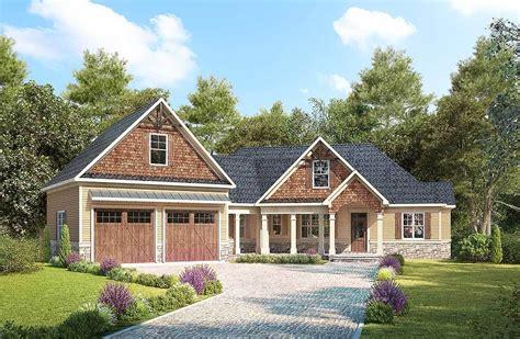 plan 62668dj modern farmhouse with angled 3 car garage craftsman with angled garage with bonus room above