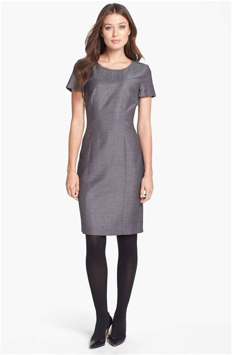 Dress In by hugo dimoren sheath dress in gray silver lyst