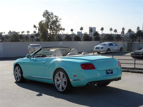 tiffany blue bentley 2013 bentley continental gtc v8 beverly hills limited