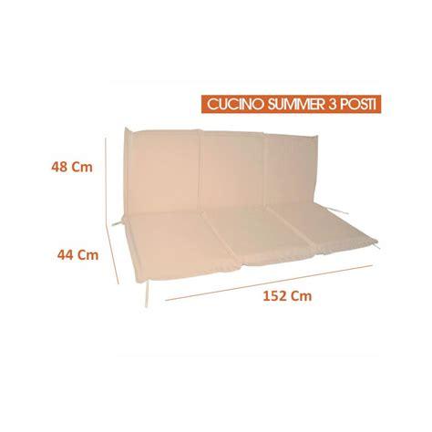 cuscini per cuscino per panca 1 2 3 posti colore ecr 249 spessore 5