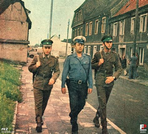patrolling the cold war two polish border guards patrolling the streets with a policeman gdyna 1977 life as a