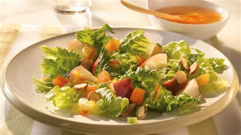 tossed green salad recipes for a crowd apple almond tossed salad recipe from betty crocker