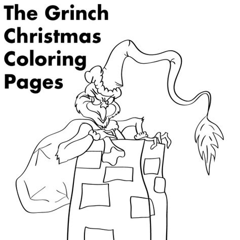 coloring pages the grinch grinch christmas printable coloring pages