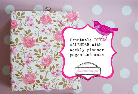 Handmade Planners - diy planner pages print and make your own calendar