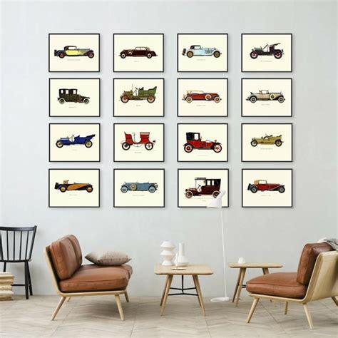 deco vintage cars d 233 co mur salon 50 id 233 es r 233 tro vintage et artistiques