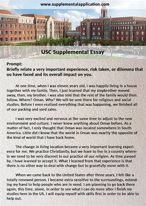 College Application Essay For Of Toledo College Essay Exles Usc