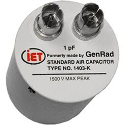 capacitor at high frequency genrad general radio 1403 a high frequency standard capacitor iet labs