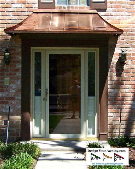 awning front door project photo gallery metal copper awnings copper