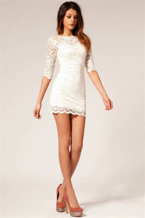 white floral lace sexy party dress   party dresses