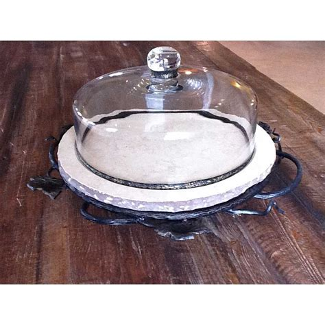 lazy boulder wrought iron marble lazy susan low boulder by toscana