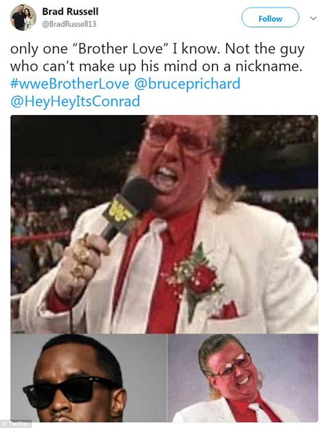 You Cant Use That Name Diddy by Combs Name Change Angers Vet Bruce Prichard
