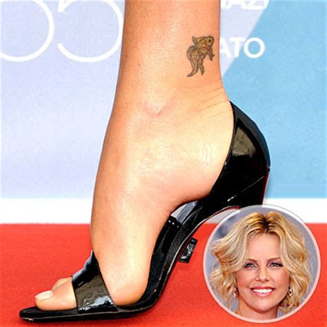 charlize theron tattoo charlize theron tattoos charlize theron pictures