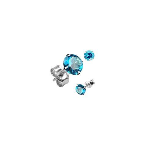 paire boucles d oreille clous argent ronde turquoise