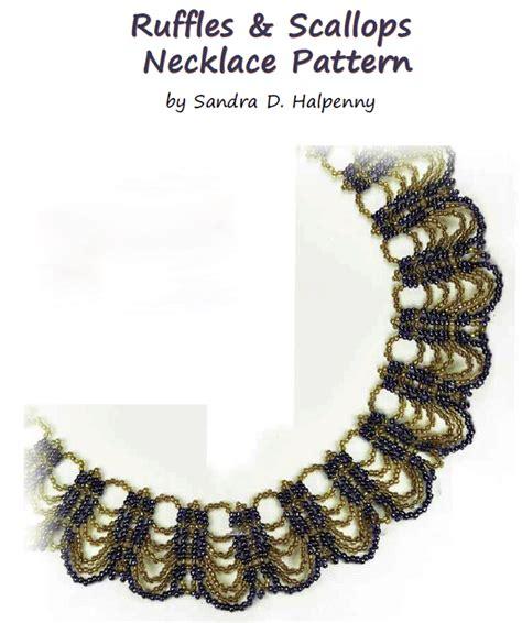 zig zag scallops necklace pattern ruffles scallops necklace pattern by sandra d halpenny