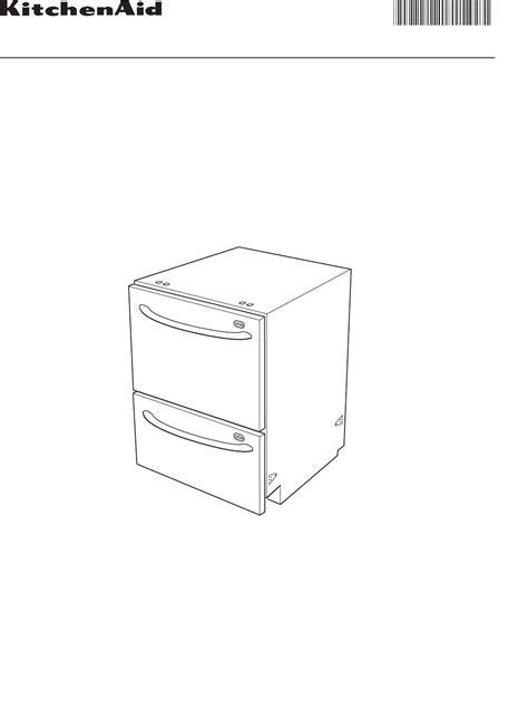 Kitchenaid Drawer Dishwasher Troubleshooting by Kitchenaid Dishwasher Kudd03dt User Guide Manualsonline