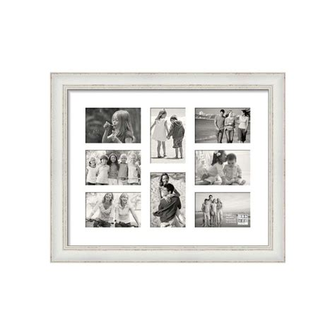 sixtrees shabby chic white multi aperture photo frame harrison cameras