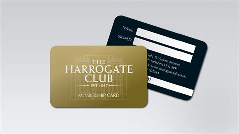 membership card design for the harrogate club membership