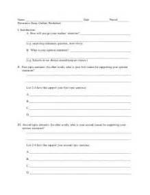 Argumentative Essay Outline Worksheet by Bongo Five Paragraph Essay Outline