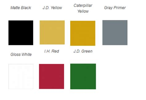 tractor paint colors images