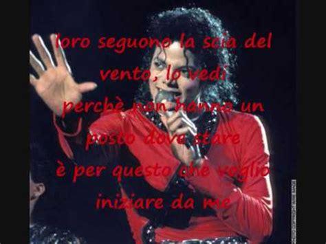 in the mirror testo in the mirror michael jackson testo in italiano