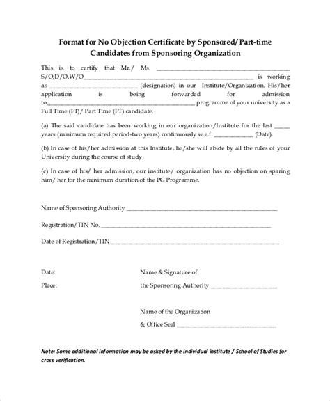 doc 8501170 noc letter format for visa letter format