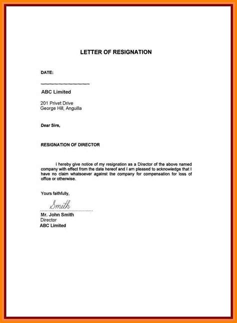 Best Resignation Letter For Personal Reasons 5 resignation letter format personal reason resign
