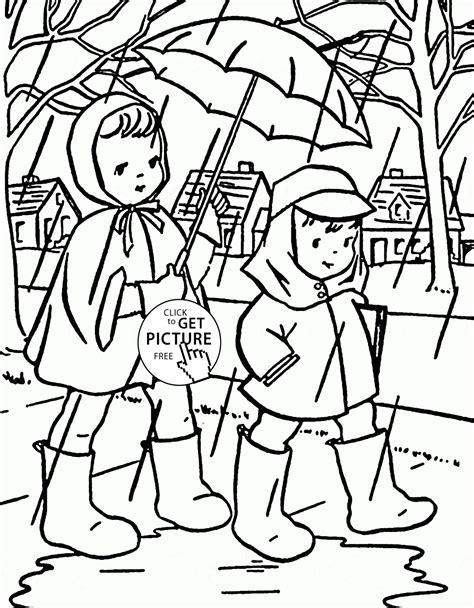 preschool coloring pages rain drudge report co preschool worksheets coloring pages rainy day scene