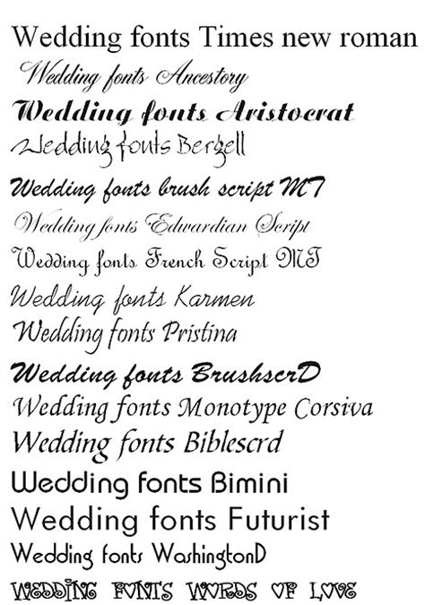 Wedding Invitation Font On Word by Wedding Invitations Fonts Free Software
