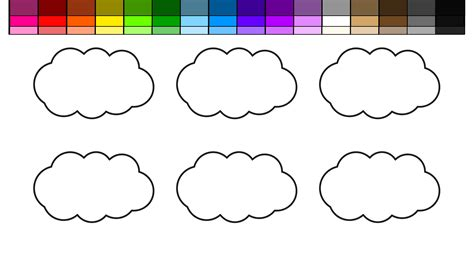 learn colors for kids and color rainbow rain clouds