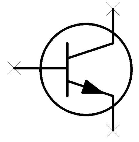 simbol transistor bipolar npn transistor symbols clipart best