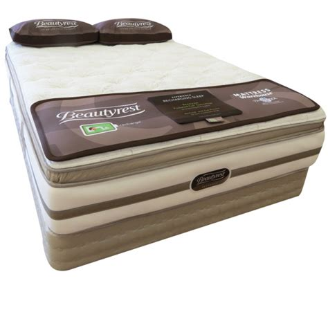 Beautyrest Pocketed Coil Pillow by Solace Plush Pillowtop Innerspring Mattress From