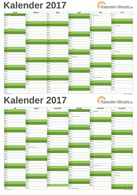 Druckvorlage Kalender 2017 Kalender 2017 Zum Ausdrucken Kostenlos