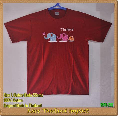Souvenir Impor Dari Thailand Berupa Kaos kaos gajah thailand murah original import wolipoli