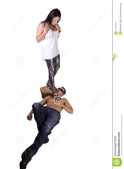 woman dominates husband image of a woman dominating over man stock photo image