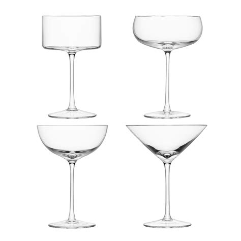 cocktail glass set buy lsa international lulu cocktail glasses set of 4